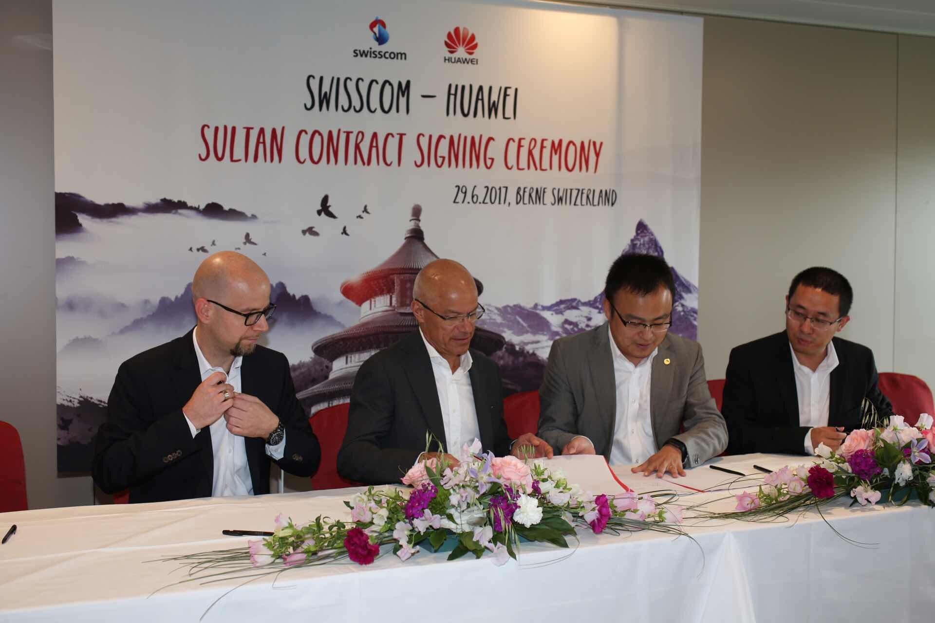 Swisscom confirms cooperation with Huawei